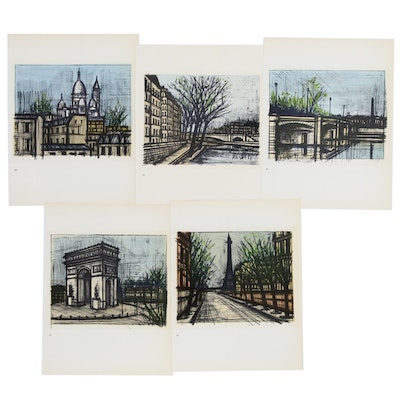 Lithographic Prints after Bernard Buffet of Parisian Scenes