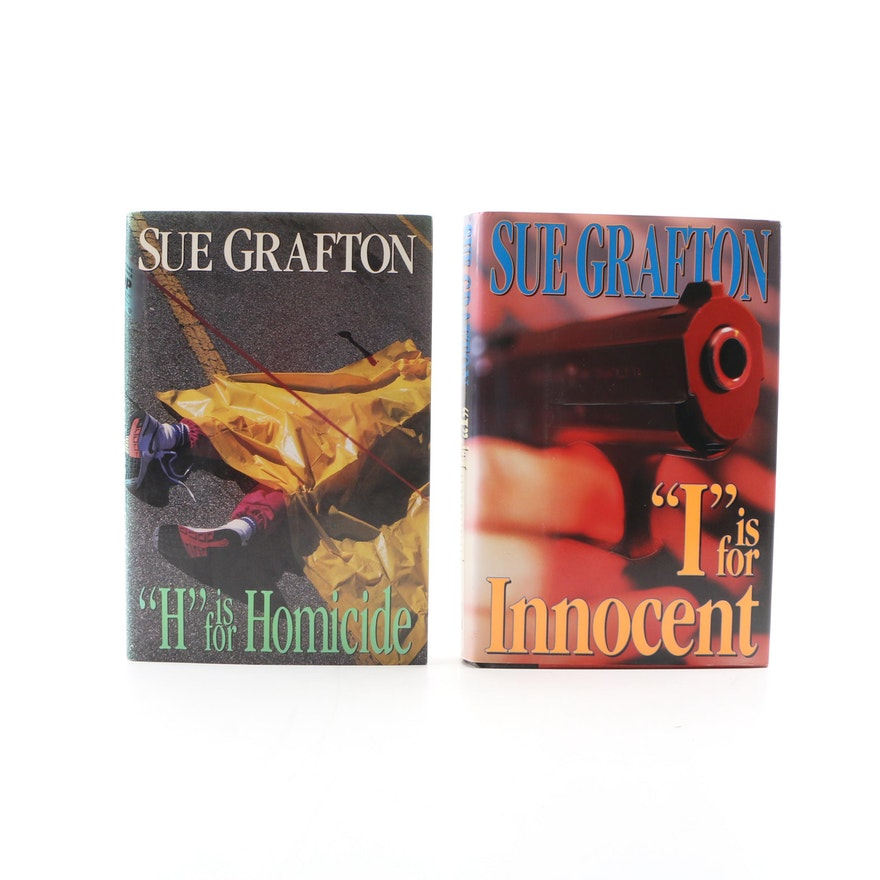 "Signed First Edition ""'H' is for Homicide"" and ""'I' is for Innocent"" by Grafton"