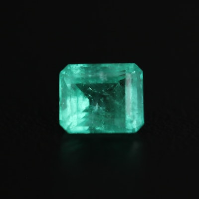 Loose 0.86 CT Rectangle Emerald