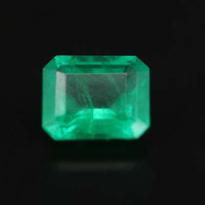 Loose 1.97 CT Square Faceted Emerald