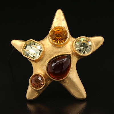 Star Rhinestone Brooch