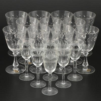 "Cambridge ""Laurel Wreath"" Glass Goblets and Cordials, 1935–1945"