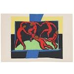 """Henri Matisse Double-Page Color Lithograph """"La Danse"""" for """"Verve"""", 1939"""