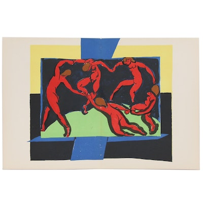 "Henri Matisse Double-Page Color Lithograph ""La Danse"" for ""Verve"", 1939"