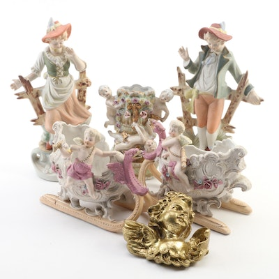 Bisque Figurines and Other Decorative Accessories, Early to Mid 20th Century