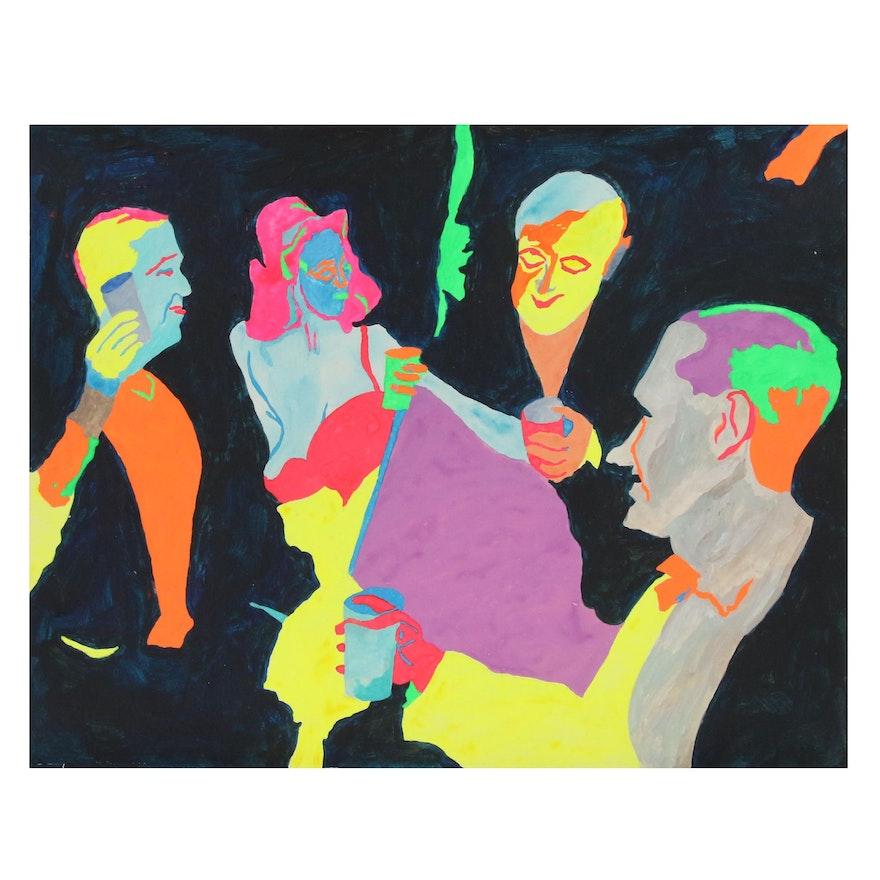 Robert W. Hasselhoff Abstract Mixed Media Portrait
