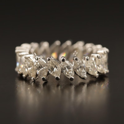 Platinum 4.20 CTW Diamond Eternity Band