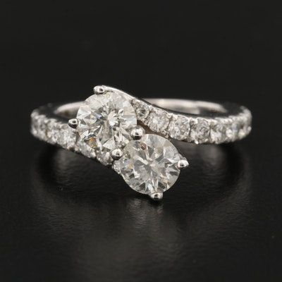 14K 2.01 CTW Diamond Bypass Ring