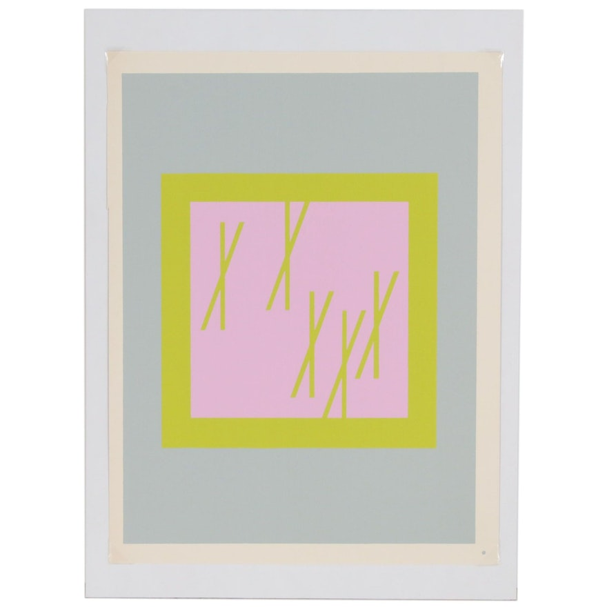 """Josef Albers Abstract Serigraph from """"Interaction of Color"""", 1963"""