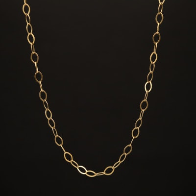 14K Flat Cable Link Necklace