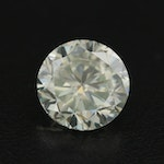 Loose Lab Grown 4.85 CT Round Faceted Moissanite