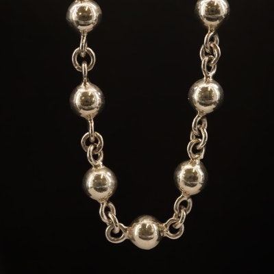 Taxco Pineda's Sterling Silver Sphere Link Necklace
