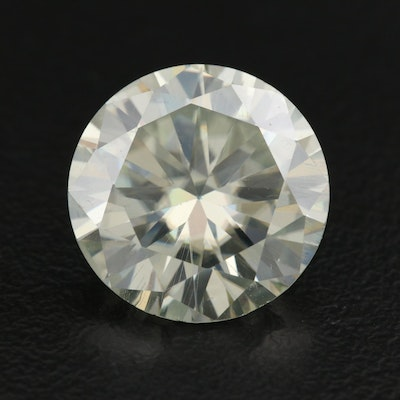Loose Lab Grown 7.34 CT Round Faceted Moissanite