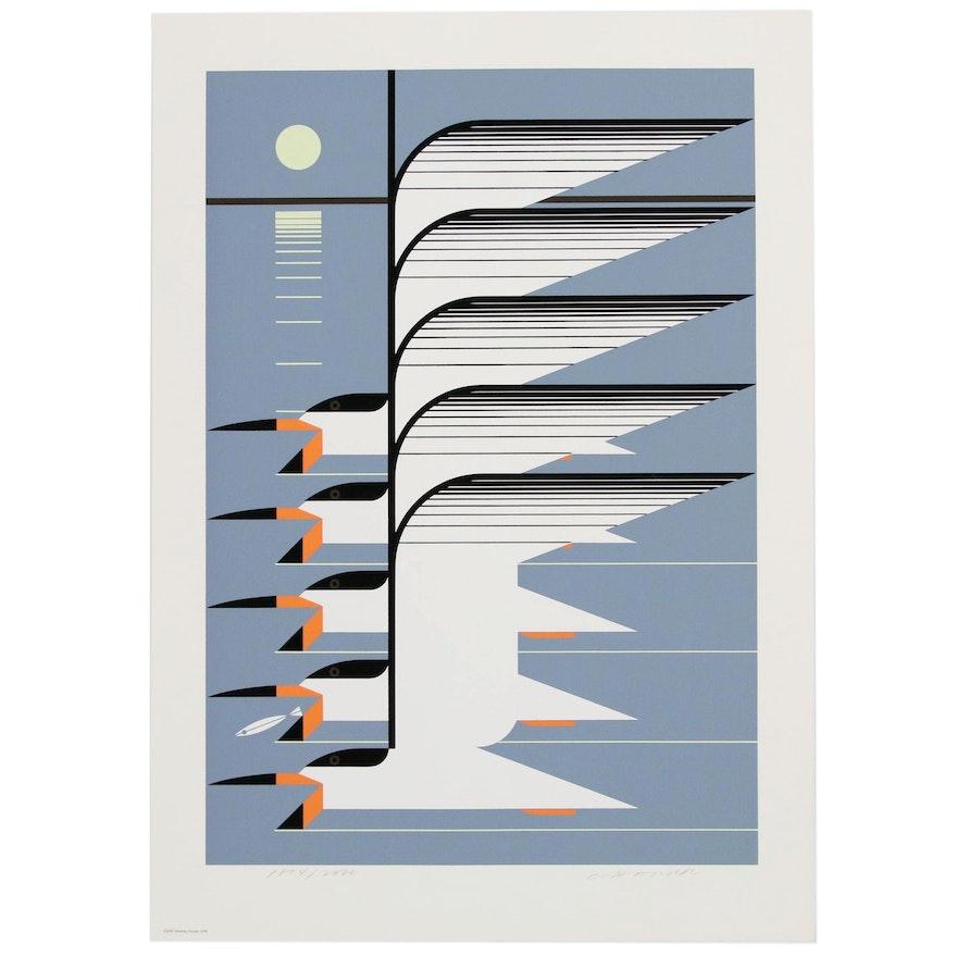 "Charley Harper Serigraph ""Skimmerscape"", 1976"