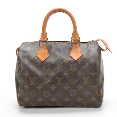 Louis Vuitton Speedy 25 in Monogram Canvas and Vachetta Leather