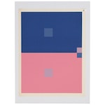 """Josef Albers Abstract Geometric Serigraph from """"Interaction of Color"""", 1963"""