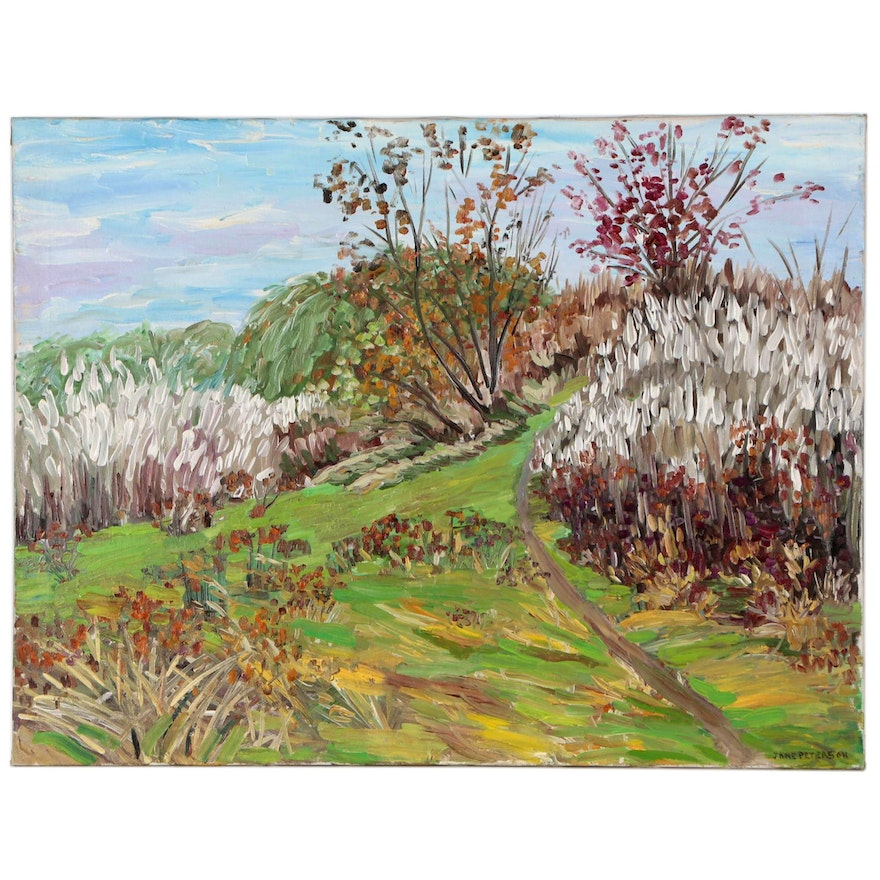Landscape Oil Painting In the Manner of Jane Peterson