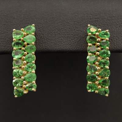 Sterling Diopside Drop Earrings