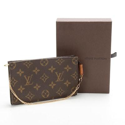 Louis Vuitton Mini Pochette in Monogram Canvas with Chain Strap