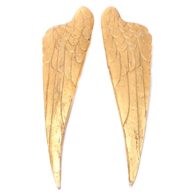 Hand-Carved Giltwood Wings
