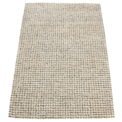 4' x 6' Hand-Tufted Hooked Wool Area Rug, 21st Century