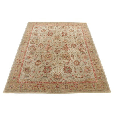 """7'11 x 10' Pottery Barn """"Brant"""" Hand-Tufted Indo-Turkish Oushak Room-Size Rug"""