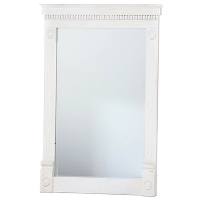 Large Neoclassical Style White-Painted Mirror