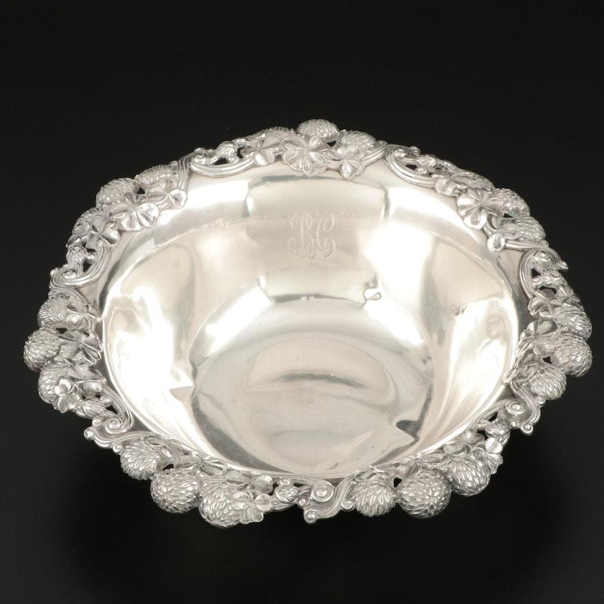 "Tiffany & Co. ""Clover"" Sterling Silver Fruit Serving Bowl, 1989–1902"