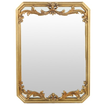 Gold Toned Rectangular Wall Mirror
