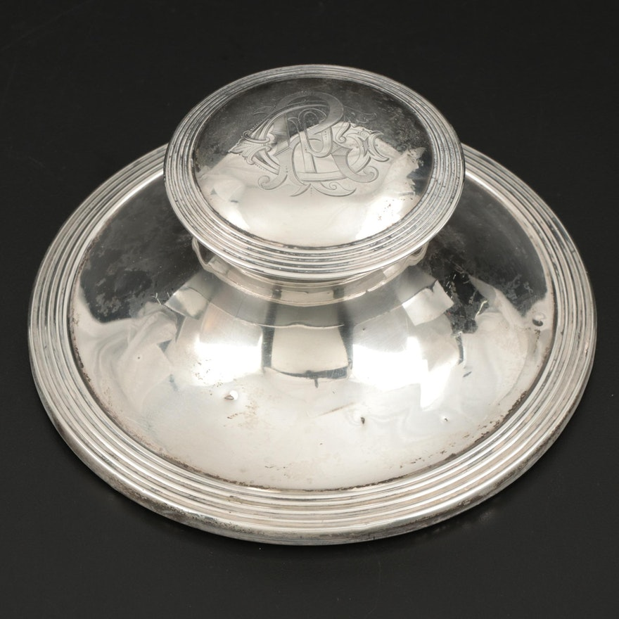 William Comyns & Sons of London Sterling Silver Inkwell, 1907