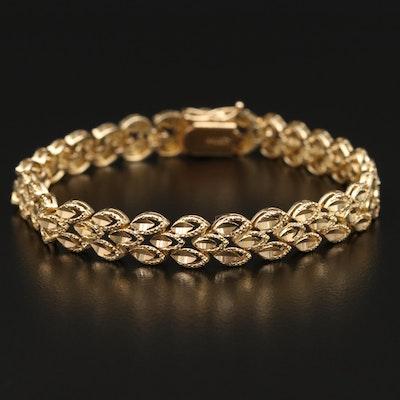 14K Triple Navette Link Bracelet