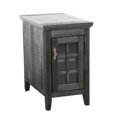 Broyhill Driftwood Finished Nightstand with Internal Power Cord, 21st Century