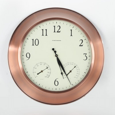 Strathwood Copper Finish Metal Wall Clock