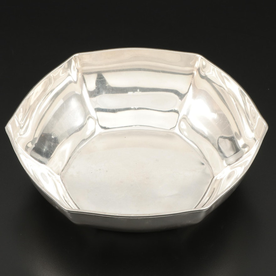 Tiffany & Co. Sterling Silver Hexagonal Serving Bowl, 1911–1947