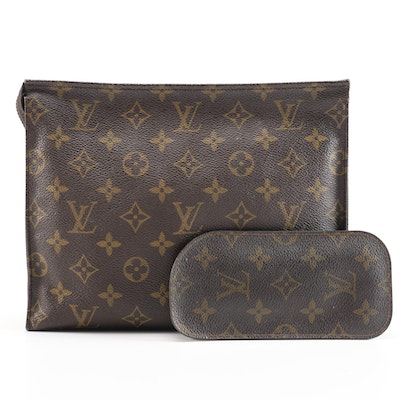 Louis Vuitton Accessory Bag and Spectacle Pouch in Monogram Canvas