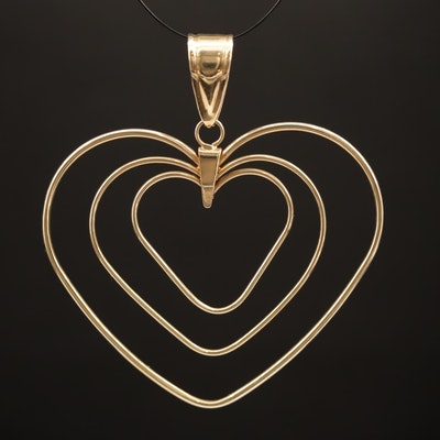 14K Triple Heart Pendant