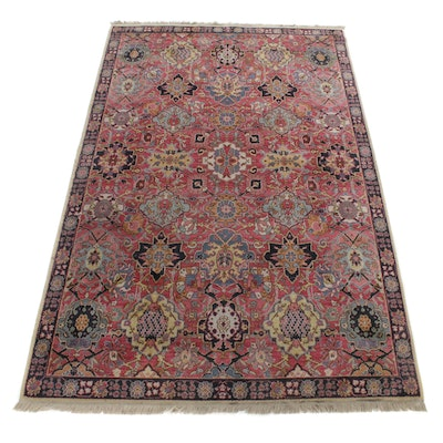 5'8 x 9'3 Hand-Knotted Indo-Persian Tabriz Rug