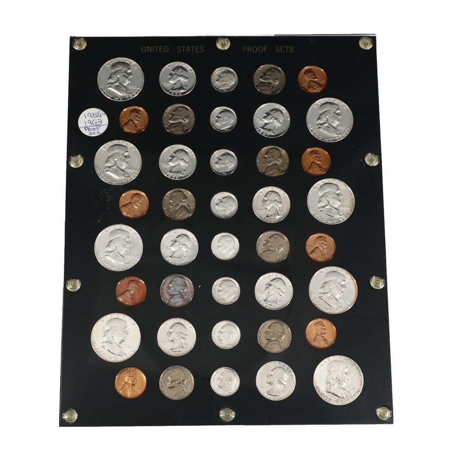 Uncirculated U.S. Proof Coin Set, 1956-1963