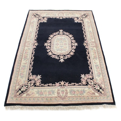 6'2 x 9'5 Hand-Knotted Chinese Sculpted Rug, Late 20th Century