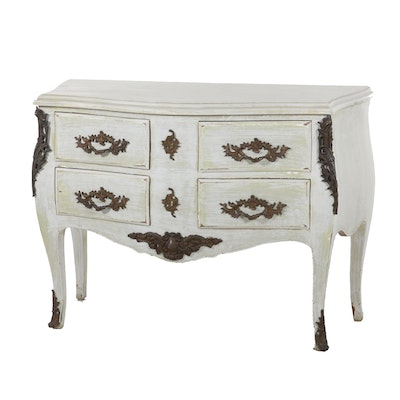 Painted Louis XV Style Commode, Early to Mid-20th Century