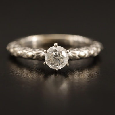 14K 0.63 CT Diamond Solitaire Ring