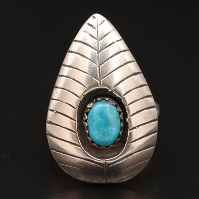 Sterling Silver Turquoise Shadowbox Ring