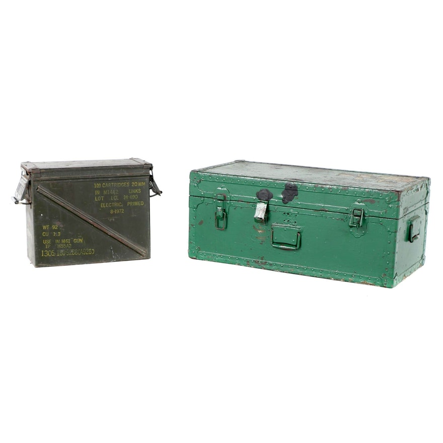 Small Arms Ammunition Case with Foot Locker Chest