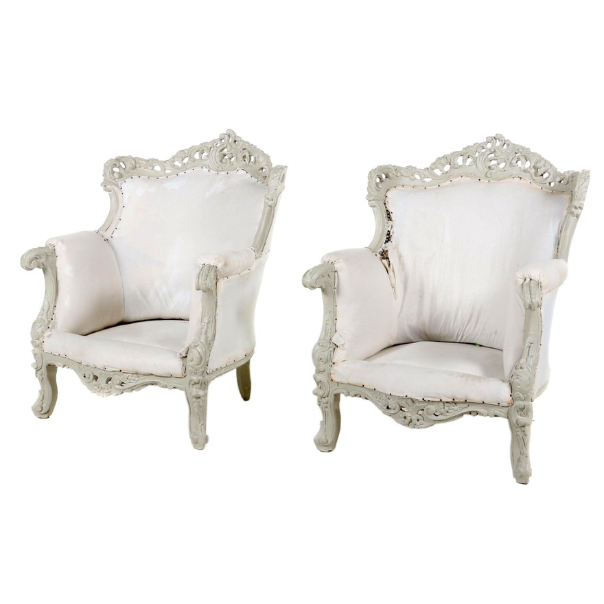 Baroque Style Arm Chairs, Late 19th- Early 20th Century
