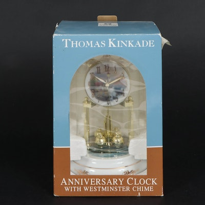 Thomas Kinkade Anniversary Clock with Westminster Chime in Original Box, 2006