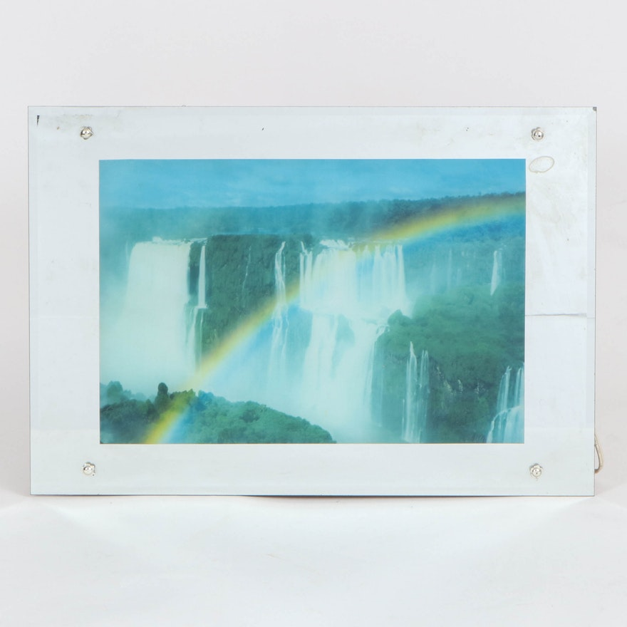 Niagara Falls Motion Lamp with Ambient Noise and Bird Sounds, Mid-20th Century