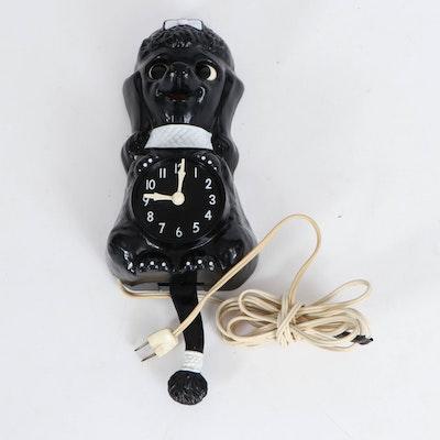 California Clock Co. Poodle Clock, Mid-20th Century