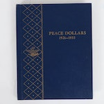 Complete Peace Silver Dollar Collection in Whitman Album, 1921–1935