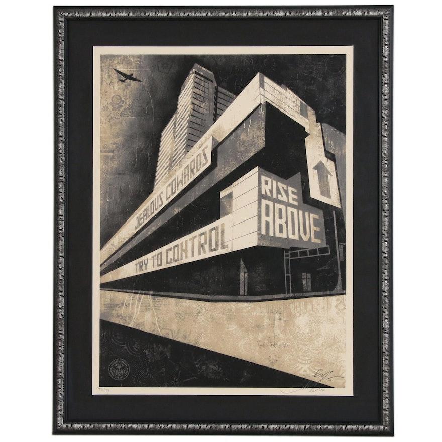 "Shepard Fairey Serigraph ""Rise Above Control"", 2010"