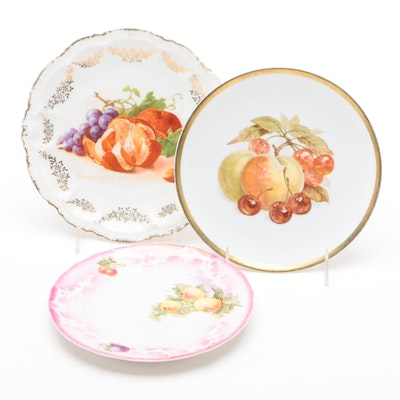 German Porcelain Plates Including Jaeger & Co. and Roschütz